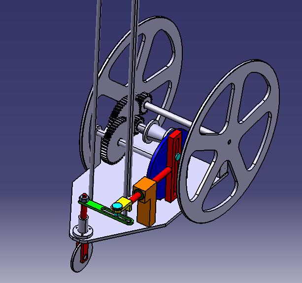 无碳小车设计cad图纸及catia三维图纸图片