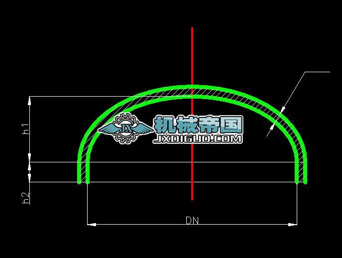 椭圆形封头图下载 27.89 KB,dwg格式 机械CAD图纸