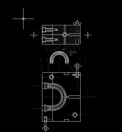 69-1弯管螺母注塑模