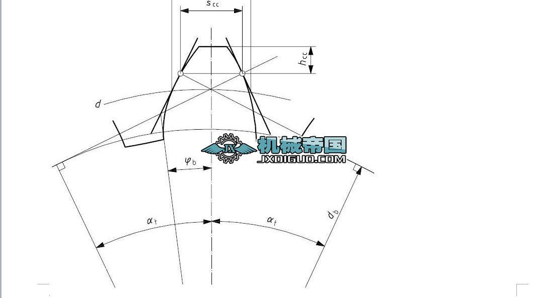 固定弦齿厚与任意圆弦齿厚的计算与检测
