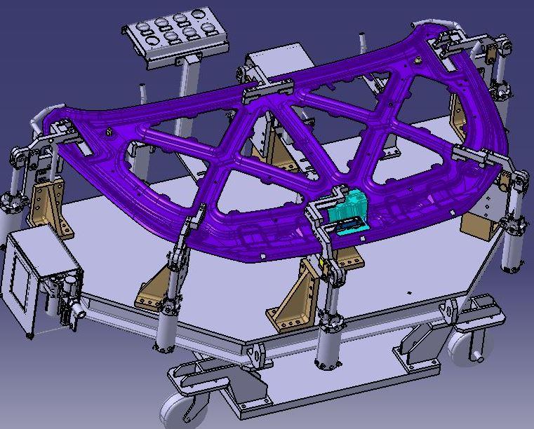 前盖总成焊接夹具3D模型