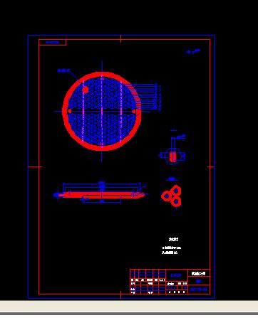 A2填料函式换热器 管板