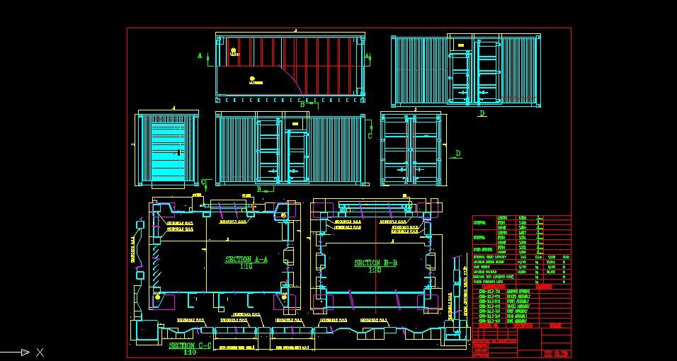 结构集装箱标准详图图纸下载(2.83MB,dwg格标准抱箍尺寸图片