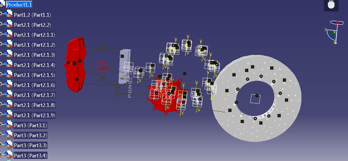 盘式制动器三维图