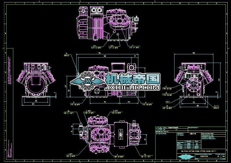 比泽尔制冷压缩机图