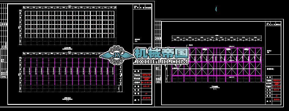 户外P16全彩显示屏结构施工图_