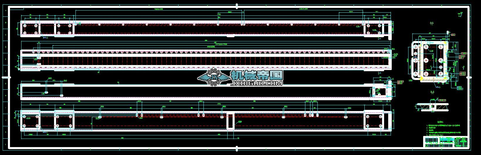 桁架式自动上下料系统图