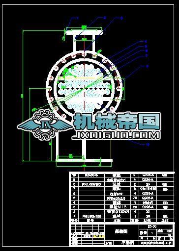 糖汁列管式换热器部图(白琳琳)(1)
