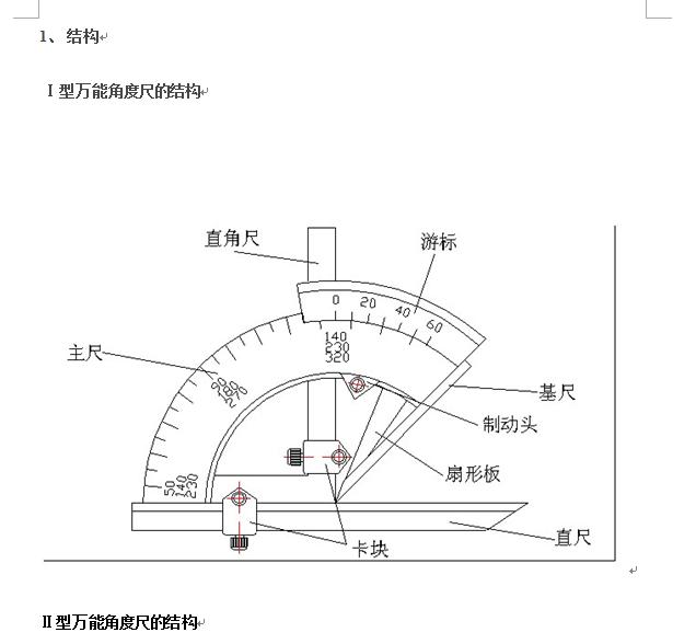 万能角度尺使用方法