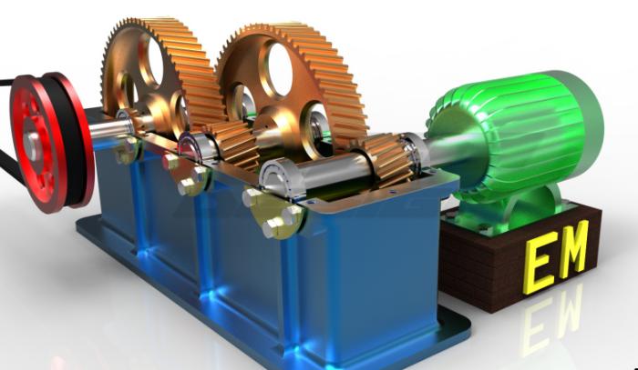 齿轮箱结构3D数模图纸 CATIA设计 附STP