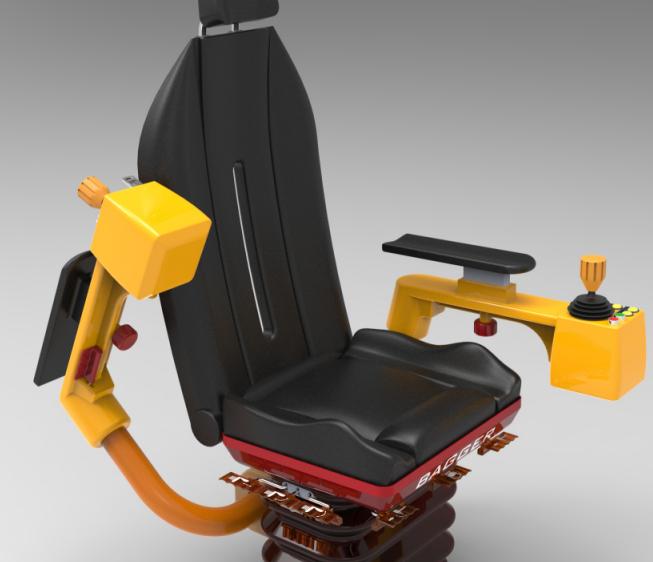 起重机操作员椅3D数模图纸 solidworks可打开
