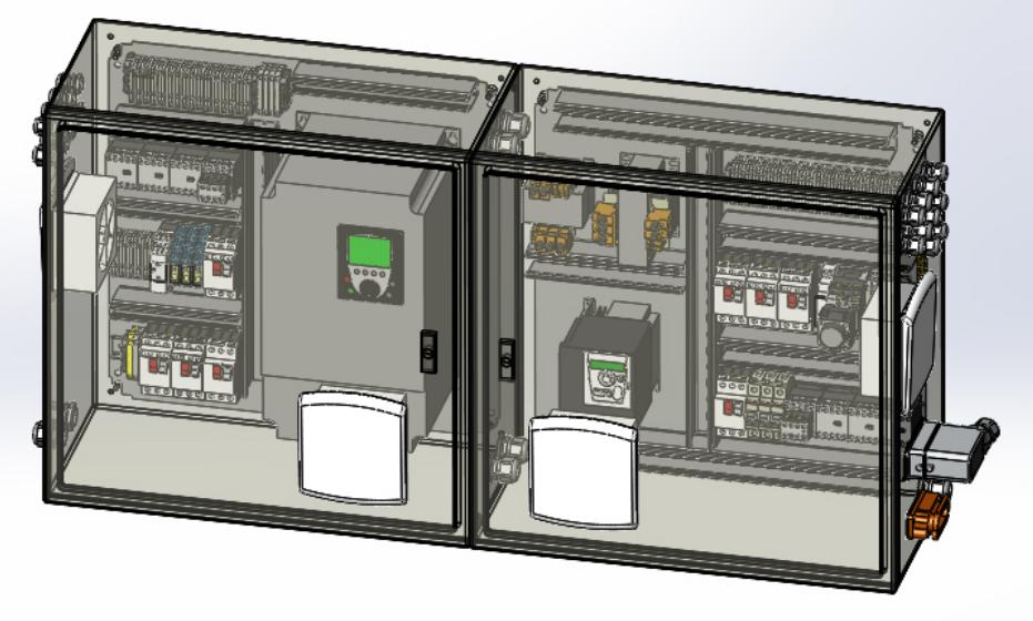 控制柜控制盒模型3D图纸 x_t格式