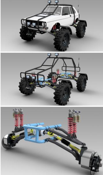 赛车悬架模型3D图纸 STEP x_t格式