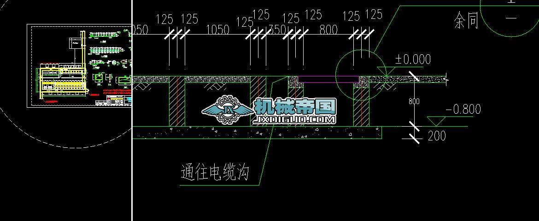 配电室布置图(沟道图)A--20131207