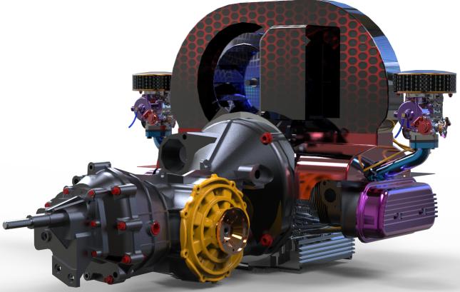 经典大众发动机3D模型图纸 STEP格式