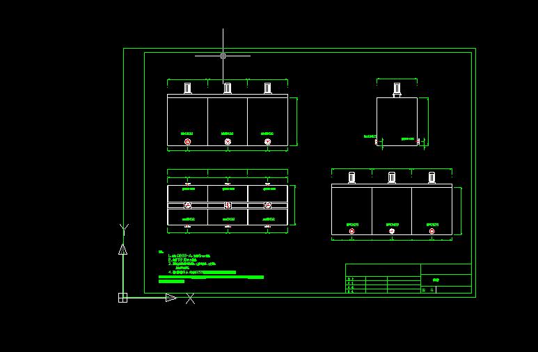 涂装废水处理设备加药槽设计图