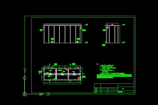 涂装废水处理设备反应槽设计图
