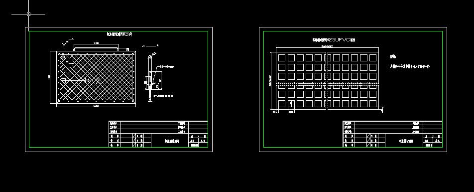 电泳槽过滤网设计图
