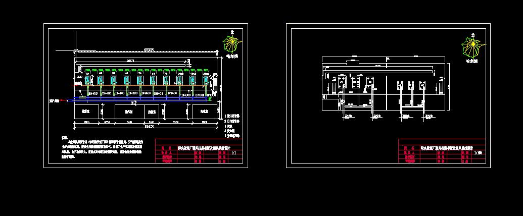 某鼓风机房通风系统设计图