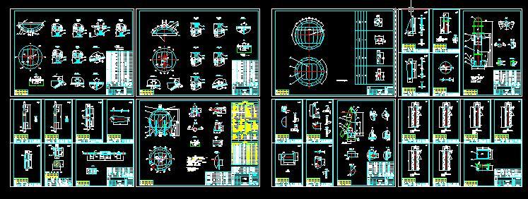 650m3液氨球罐全套施工图,含全部零件图