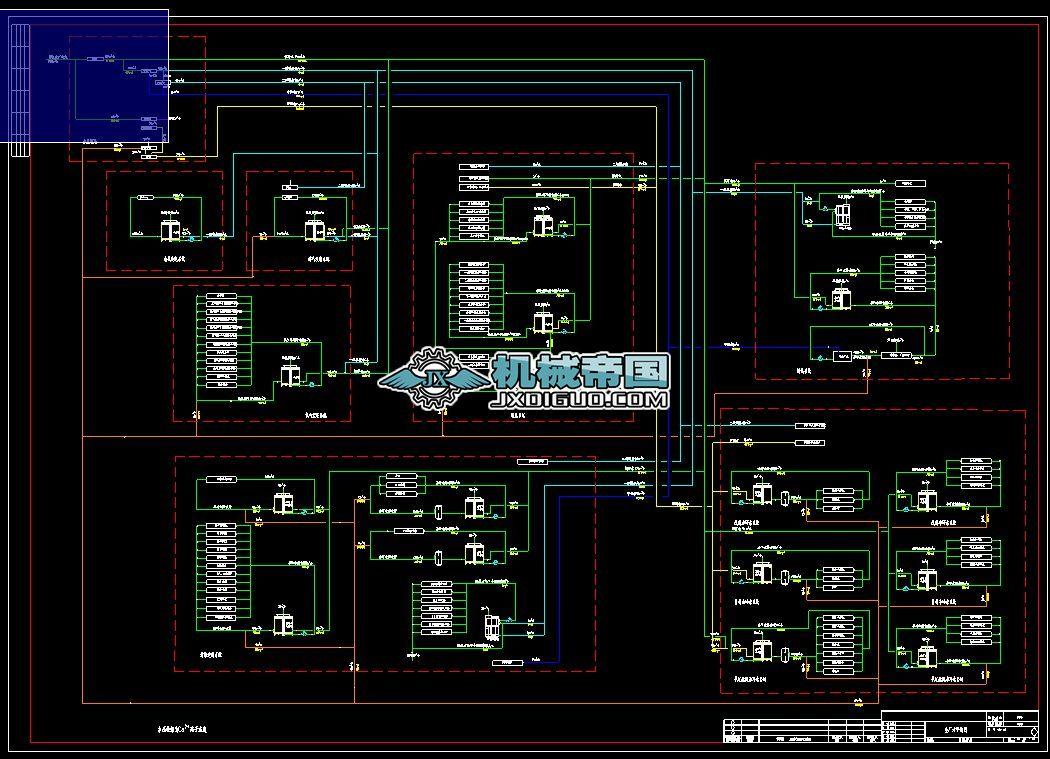 500m3/h矿井水处理工艺图