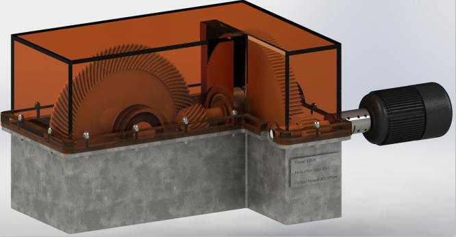 二级圆柱直齿轮与锥齿轮组合减速箱3D图纸 Solidworks设计