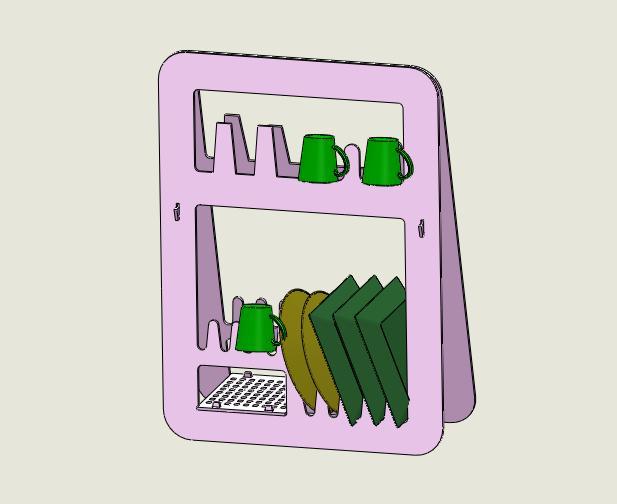 厨房储物钣金架