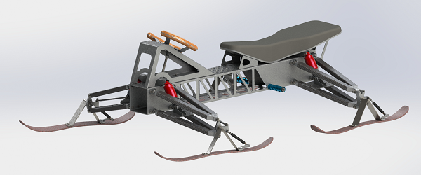 雪地车电动雪橇车3D图纸 Solidworks设计