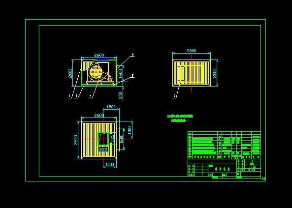排风机组隔音室设计图