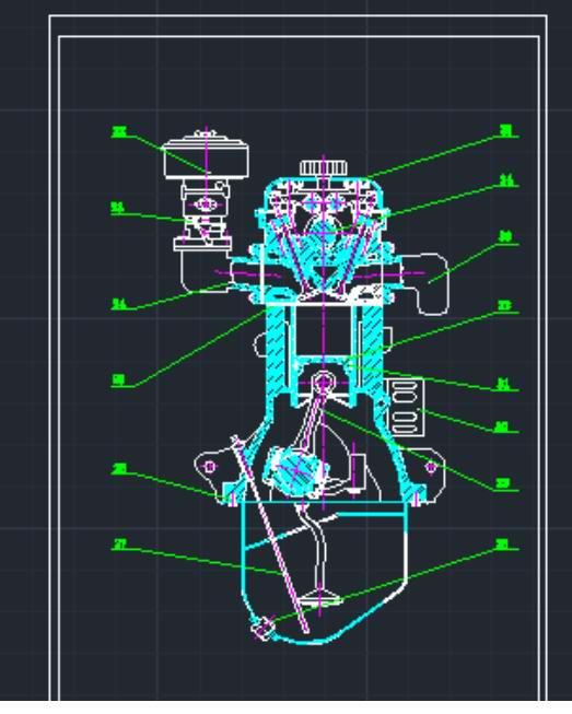 气油机装配图1