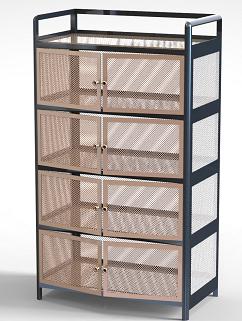 厨房架子储物柜3D数模图纸 STEP格式