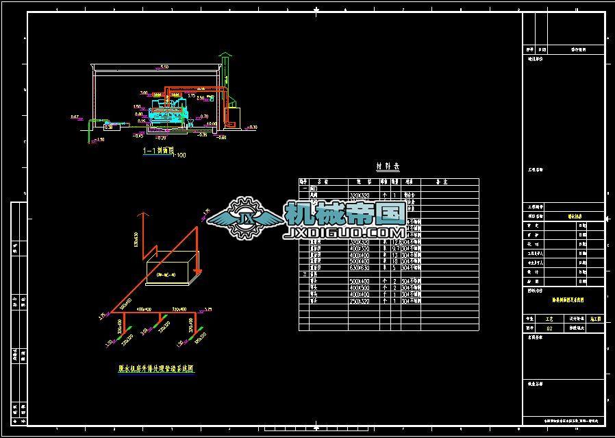 脱水机房除臭装置设计图