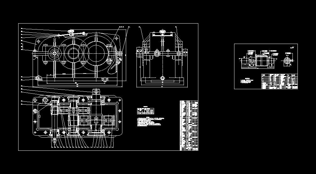 减速器CAD装配图A0+零件图A3