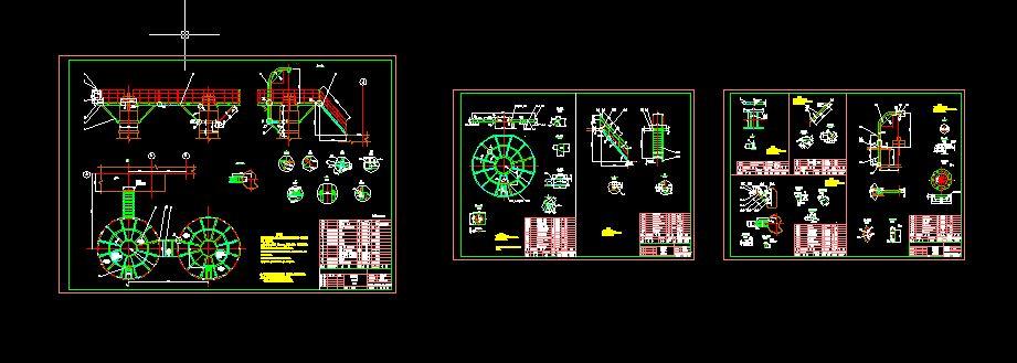 尿素合成塔操作平台(装配图+零件图)套图