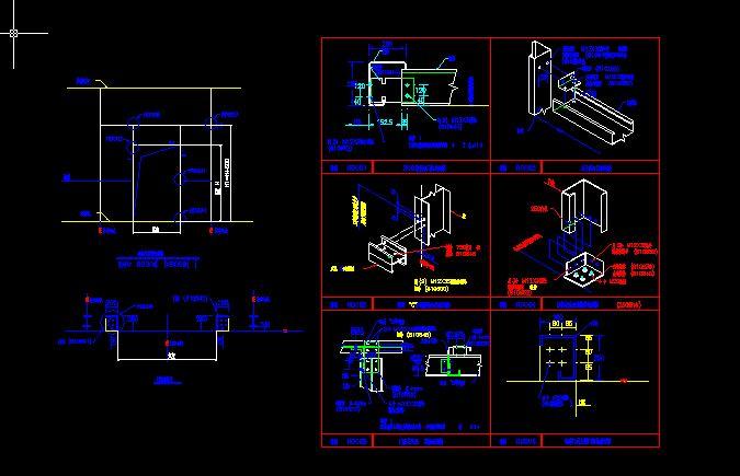 卷帘门或上推门结构详图
