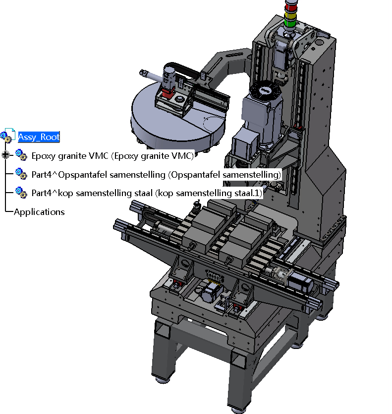 数控机床3D结构(CATIA实体)