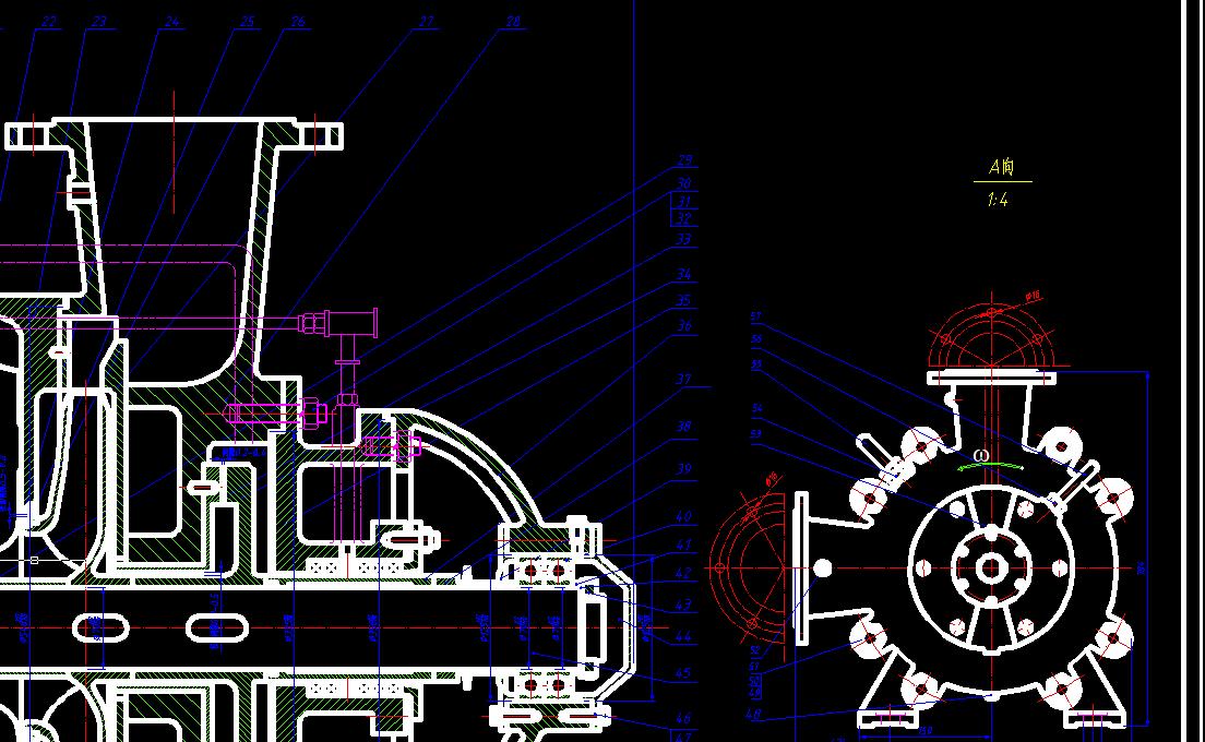 多级离心泵装配图A0