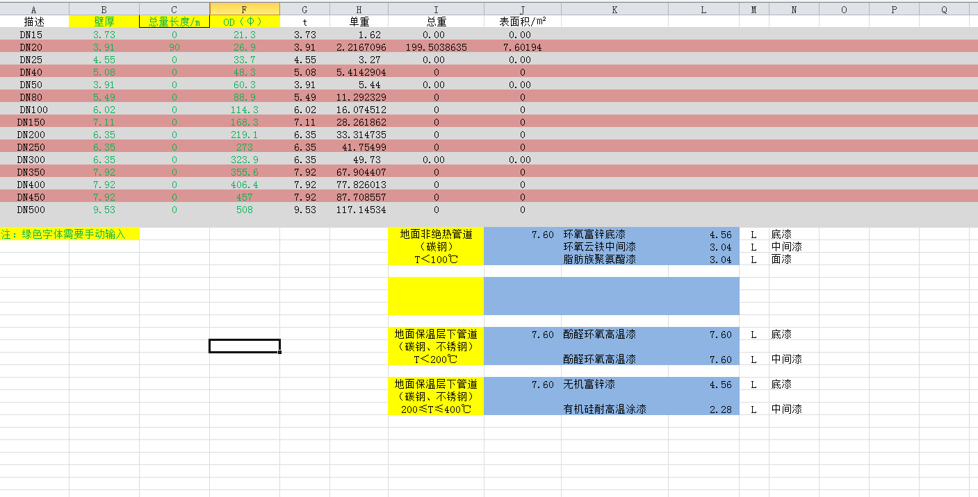 防腐保温计算-LZ