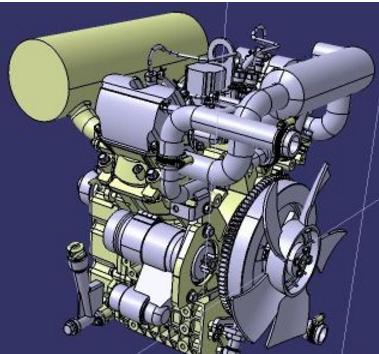 柴油机3D数模图纸 STP格式