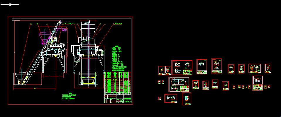 JS750混凝土搅拌机全套生产图.DWG