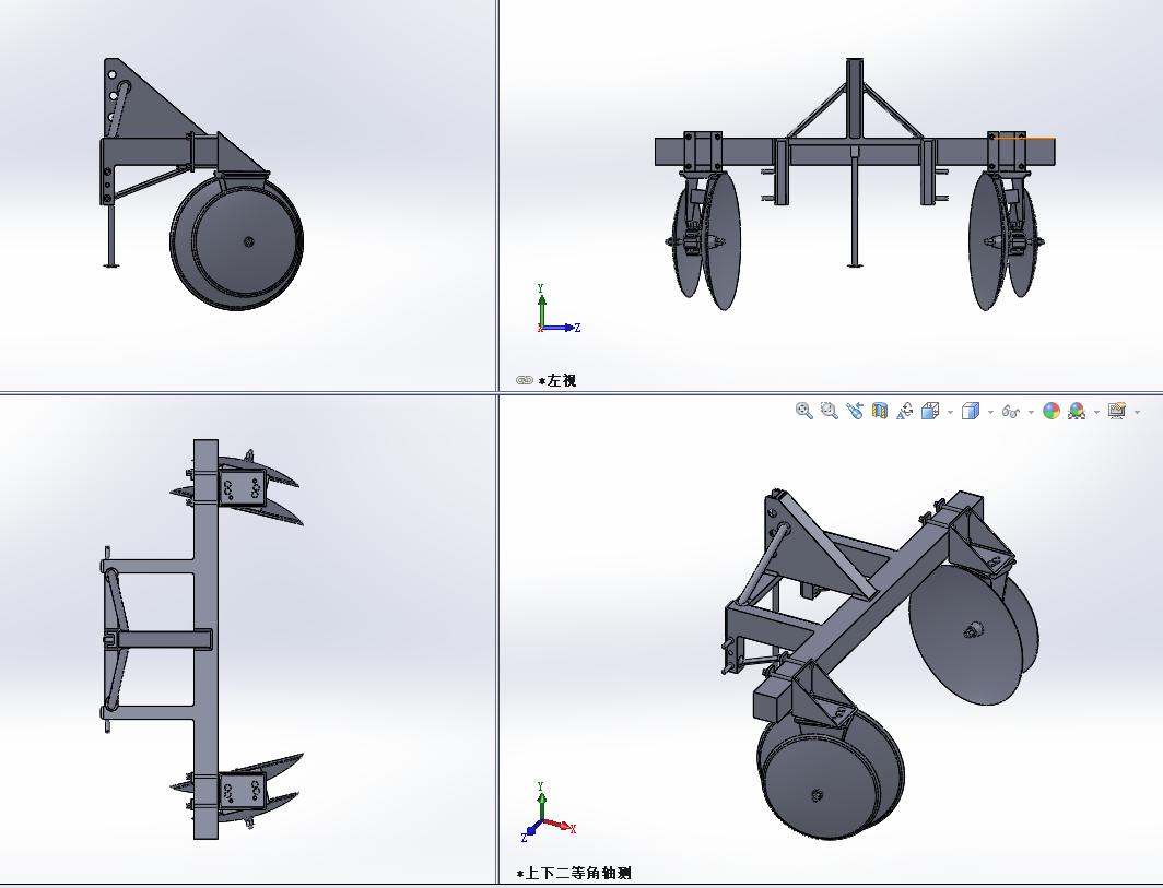 耕田犁设计模型