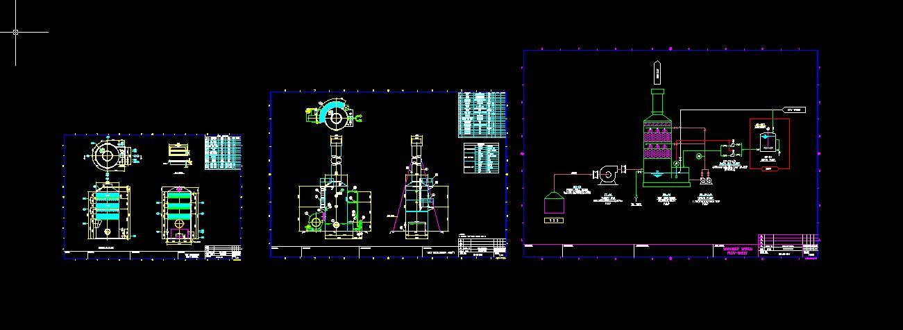 废气处理系统图图