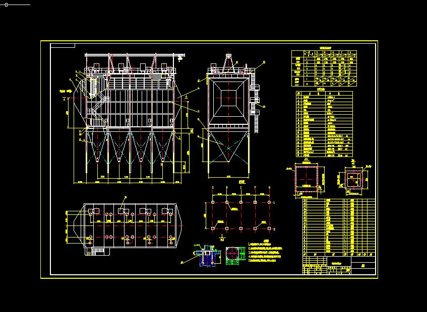 单室四电场电除尘器80-4